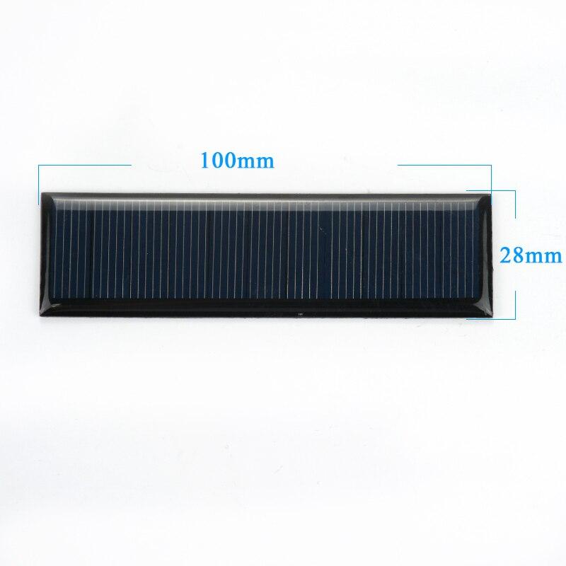 AIYIMA 10Pcs Solar Panel DIY Photovoltaic Solar Cell Car Charger Lamp Light  Sun Power Solar Charger 100*28mm 5 5V 60mA