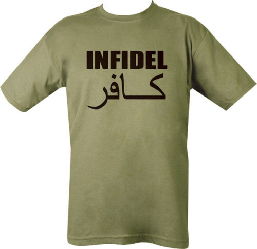 Military Printed INFIDEL T Shirt Olive Green SAS PARA New Shirts Funny Tops Tee Unisex  High Quality Casual Printing
