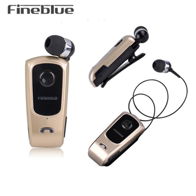 Fineblue f920 Беспроводной Bluetooth наушники гарнитура вкладыши Наушники гарнитуры Поддержка звонки напомнить вибрации с воротником клип