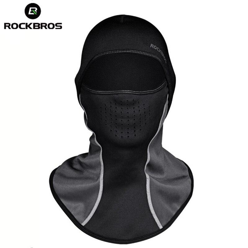 ROCKBROS Winter Skiing Thermal Headwear Neck Lycra Snow Scarfs Snowboarding Headwear Ski Hat Windproof Warm Face Masks Men Women