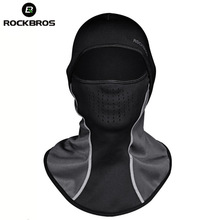 ROCKBROS Winter Skiing Thermal Headwear Neck Lycra Snow Scarfs Snowboarding Headwear Ski Hat Windproof Warm Face Masks Men Women