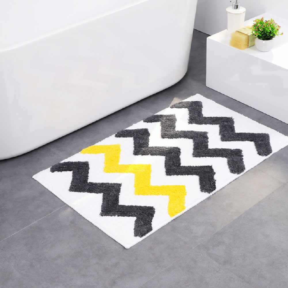 New Color Stripes Door Mats Living Room Rug Quality Polyester Bathroom Cute Style