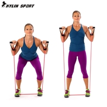 Pull Rope Elastic Rope Crossfit Set Multifunctional Training font b Equipment b font Rubber Band Belt