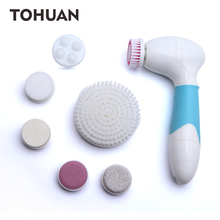 7 IN 1 Face Brush Cleansing Multifunction Electric Ultrasonic Wash Body Spa Skin Care Massage Face Brushes Facial Cleanser Tool