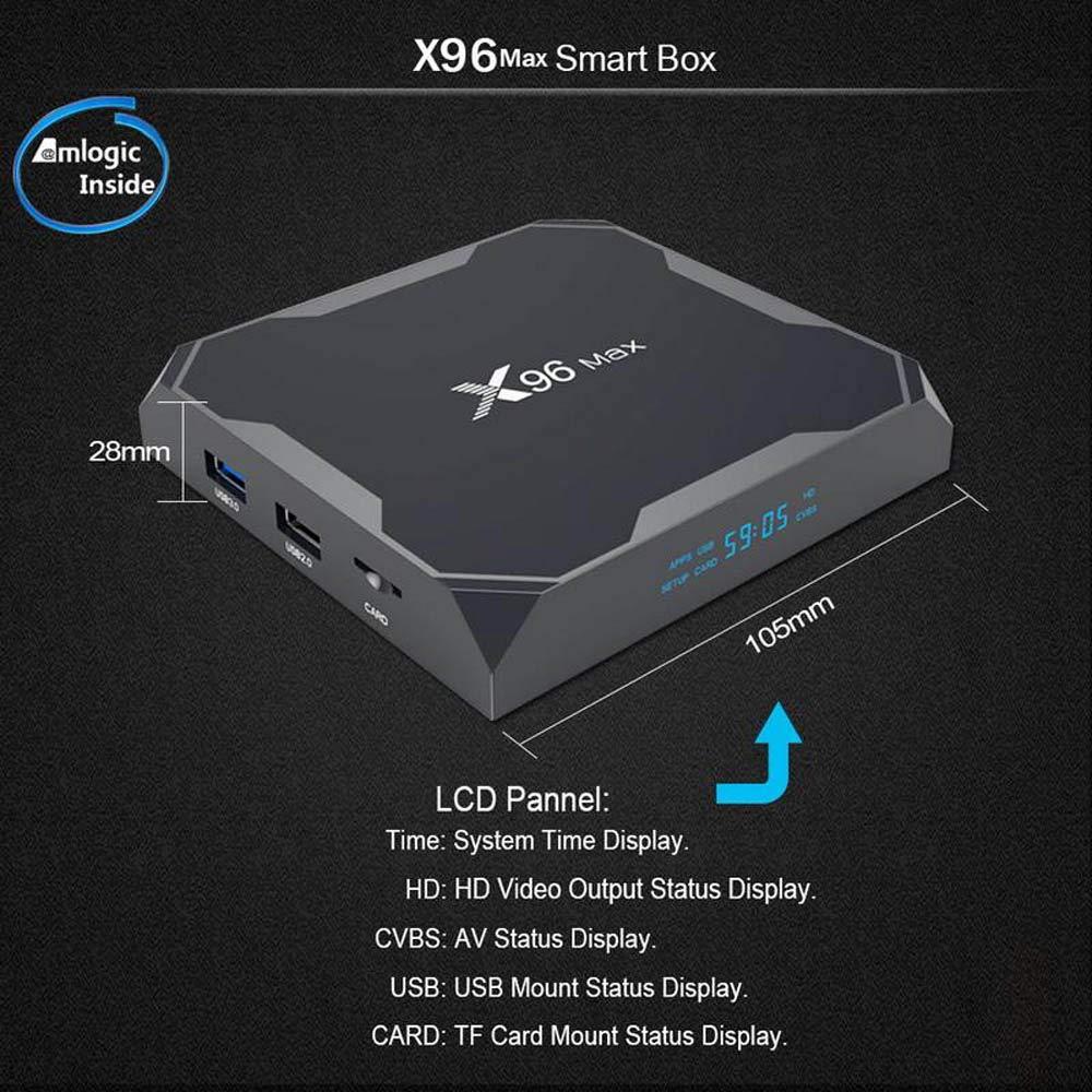 X96 Max Smart TV BOX Android 8.1 Amlogic S905X2 LPDDR4 Quad Core 4GB 64GB 2.4G&5GHz Wifi BT 1000M 4K X96Max Set-top box tvbox