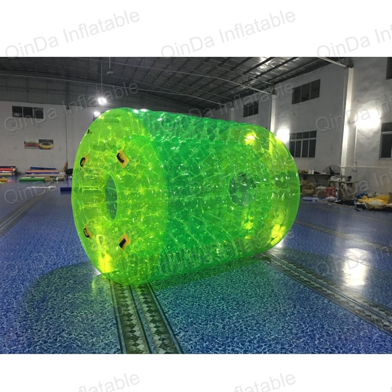 Guangzhou Good price PVC inflatable water roller ,outdoor rolling ball toy ,inflatable ball toy inflatable water spoon outdoor game water ball summer water spray beach ball lawn playing ball children s toy ball