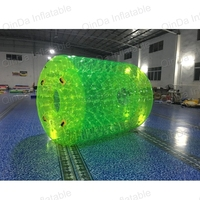 Guangzhou Good price PVC inflatable water roller ,outdoor rolling ball toy ,inflatable ball toy