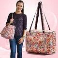 Старинные цветок печати большой емкости моды мама пеленки сумки молния детские пеленальный сумки мать сумка пеленки мешок для ребенка