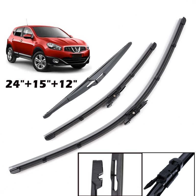 3 x Blades Front and Rear Blades A6 Estate Mar 2005 to Aug 2011 Windscreen Wiper Blade Set