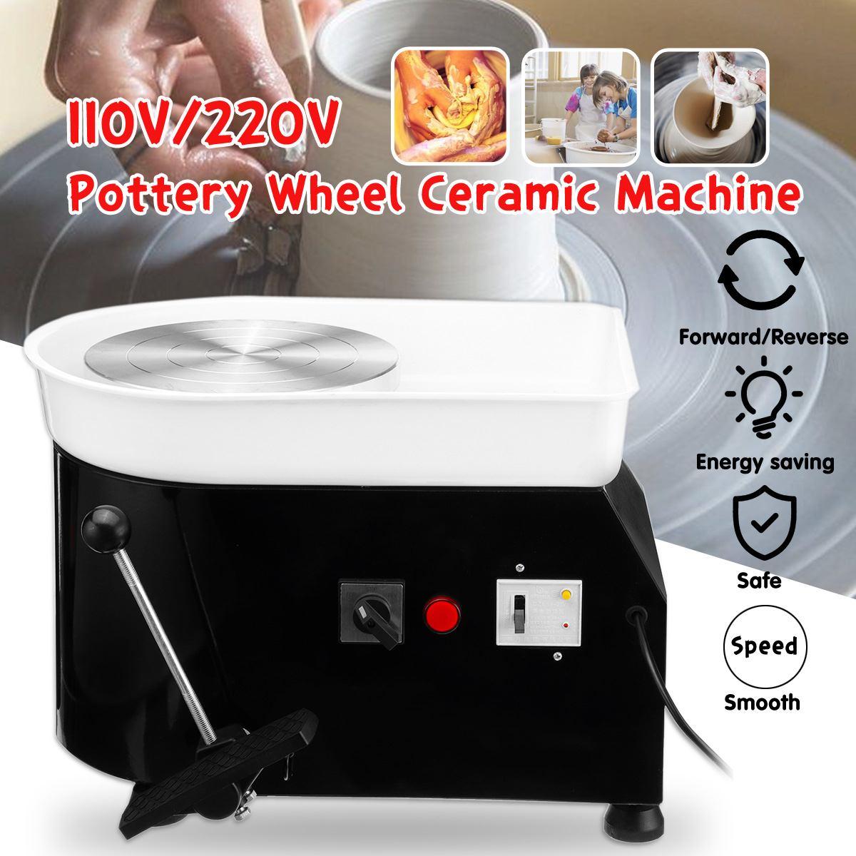 Poterie formant la Machine 110 V/220 V 350 W poterie électrique roue argile pour travaux pratiques outil plateau Flexible pédale pour céramique travail céramique