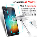 9H 0.3mm REDMI Pro Tempered Glass screen protector for Xiaomi red rice REDMI NOTE 2 3 mi 2 3 4 4i 4c redmi 1 2 3 Explosion-proof
