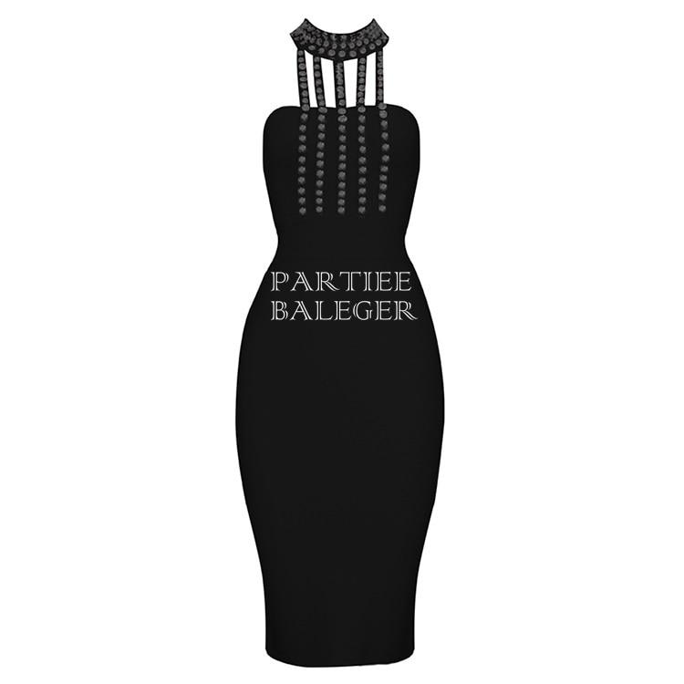 Élégant Haut Celebrity noir L'épaule Diamants Col De Bandage New Sexy Embelli Outre 2019 Summer Genou Au Robe Longueur Soirée pourpre Beige YxH46qnwvH