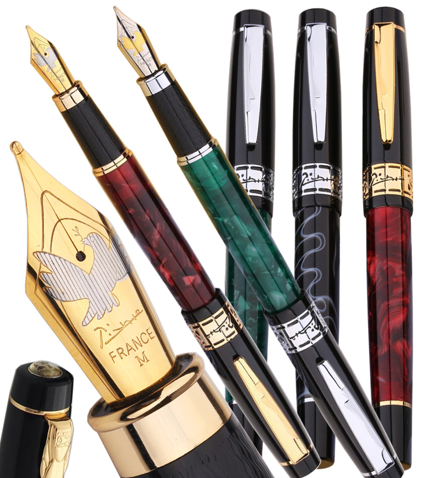 Classic Fountain pen M Nib Original Picasso 915 shcool and office stationery Free Shipping 8pcs lot wholesale fountain pen black m 14 k solid gold nib or rollerball pen picasso 89 big executive stationery free shipping