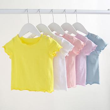 Bambusowe bawełniane koszulki dziecięce chłopięce koszulki dziewczęce koszulki dziecięce koszulki letnie ubrania dziecięce Super wygodne tanie i dobre opinie Kids Tales Moda COTTON Poliester Dla dzieci Pasuje mniejszy niż zwykle proszę sprawdzić ten sklep jest dobór informacji