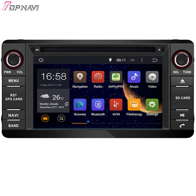 7'' Free Shipping Quad Core Android 5.1 Car Radio GPS For MITSUBISHI OUTLANDER/LANCER/ASX 2013-  With Stereo Audio 16GB Flash