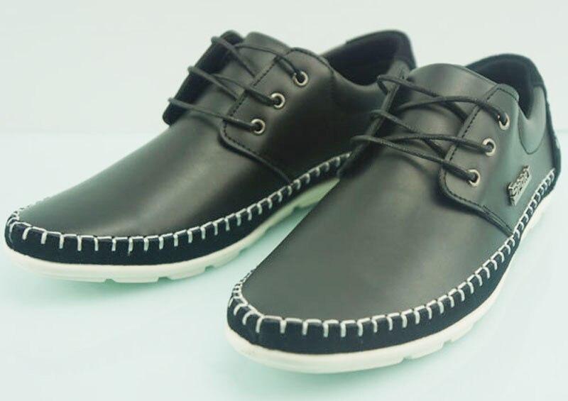 High quality Chaussures Flats Hommes boys black popular shoes men zapatillas deportivas Genuine Leather Deodorization