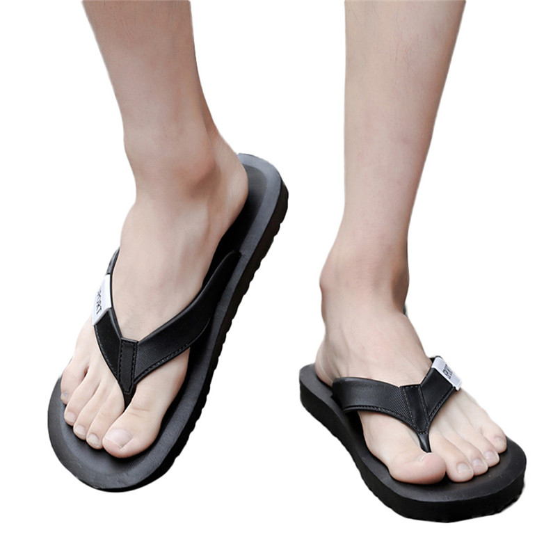 Summer Flip Flops Beach Sandals Mens Casual Flats Shoes Light Weight Slippers Shoes Mans footwear terlik kapcie Slides 40jy10(China)