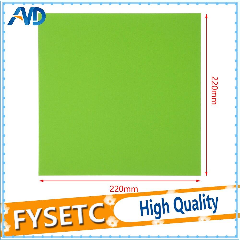 1 Pc Solid Green Frosted Verwarmd Bed 220x220mm Voor Wanhao I3 Anet A8 Tarantula 3d Printer Sticker Bouwen Vel Plaat Tape Verschillende Stijlen
