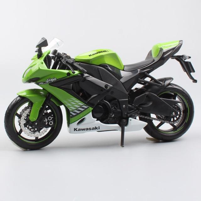 1 12 Scale Maisto Kawasaki Ninja Zx 10r Super Bike Diecast Vehicle