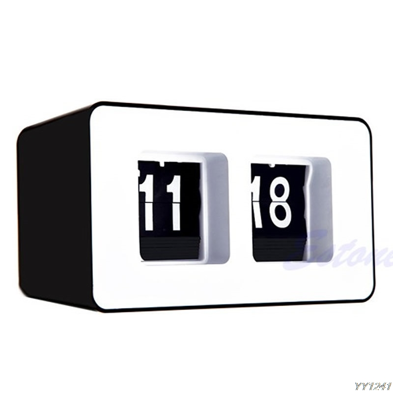 Rétro Flip Classique Élégant Bureau Auto Moderne Horloge Murale Y110-Dropshipping