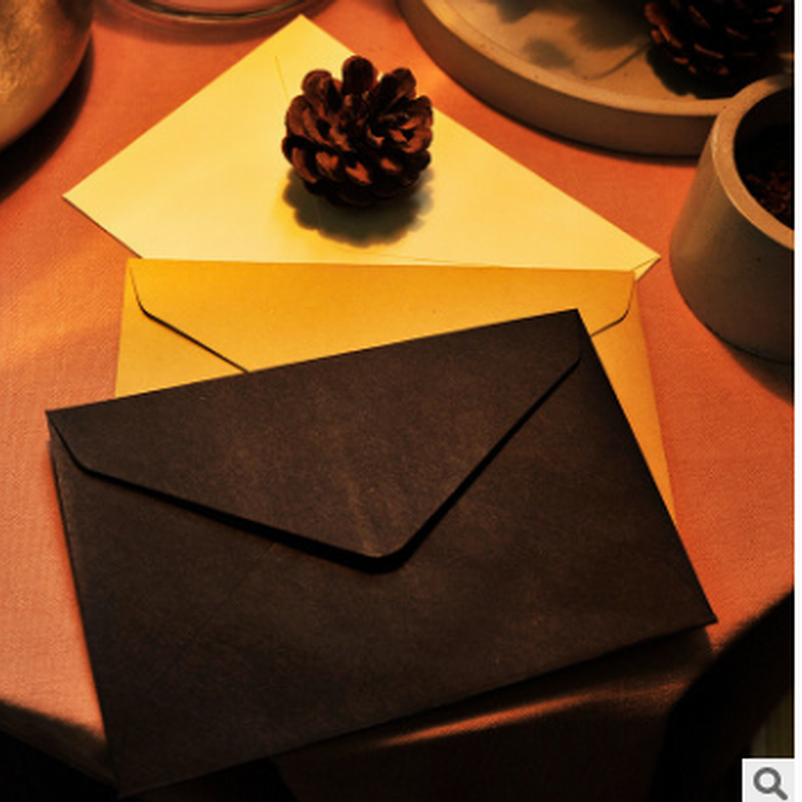 DHL Free Shipp, Wholesale 500PC Retro Envelopes Blank Kraft Paper Vintage Scrapbook Envelopes Postcards Envelopes Kraft Envelope