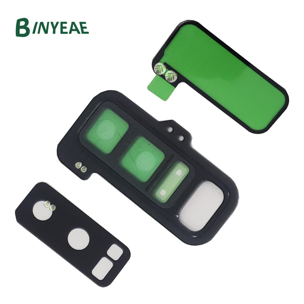 BINYEAE Rear Camera Glass Lens Holder Cover with Glue Adhesive for <font><b>Samsung</b></font> <font><b>Galaxy</b></font> <font><b>Note</b></font> <font><b>8</b></font> N950 N950F N950U N950FD <font><b>N950N</b></font> Black image