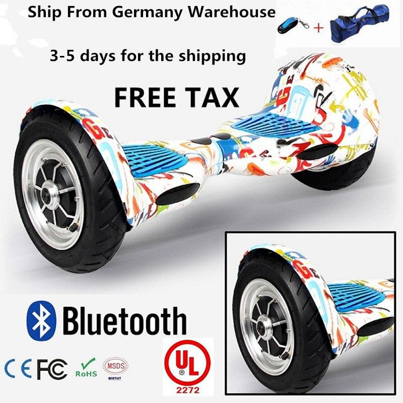 10 pouces auto équilibrage scooter avec haut-parleur bluetooth 2 roues hoverboard 10 pouces balance intelligente scooter électrique