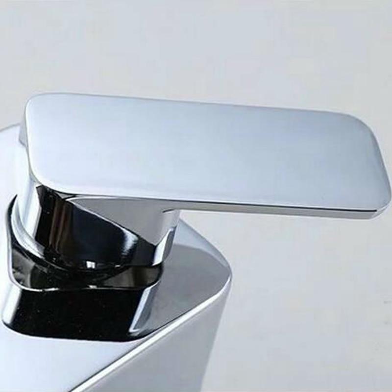 Digital Display Shower Faucet Luxury Rain Shower Set Water Powered Digital Display No Need Battery 8 Inch Rain Shower Head