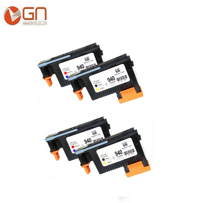 2 Sets 4 Pieces For Hp 940 Printhead BK Y C M C4900A C4901A Print Head
