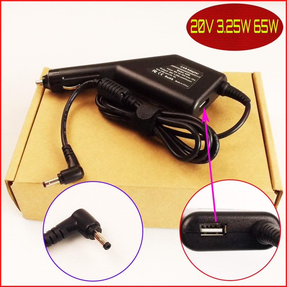 Laptop DC Power Car Adapter <font><b>Charger</b></font> 20V 3.25A 65W + USB Port For Lenovo YOGA 710 <font><b>510</b></font> <font><b>510</b></font>-14ISK 80S700BNAU <font><b>510</b></font>-15IKB 80VC