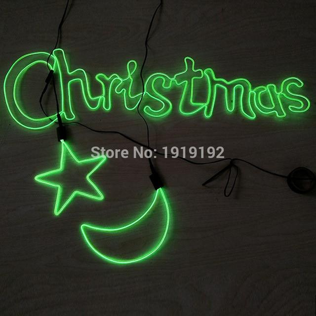 DIY EL wire LED neon light Fixed shape Outline Luminous modeling ...