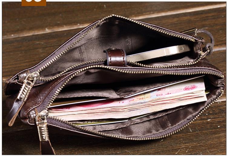 486da4f625fe0 JASON TUTU männer Kupplung Echtes Leder Männer Brieftasche Business ...