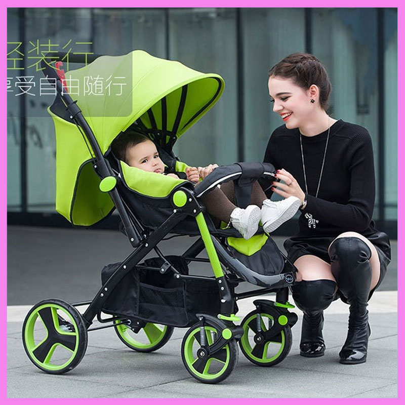 High Landscape Steel Light Baby Stroller Four Wheels Lightweight Travel Portable Umbrella Car Baby Carriage Pram Buggy Pushchair summer mosquito net travel folding portable four wheel cart carriage reversible car baby stroller lightweight pram pushchair