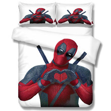 Marvel Deadpool 3D printing bedding set 10 Size comforter bedding sets Super hero bedclothes bed linen duvet cover Pillowcases(China)