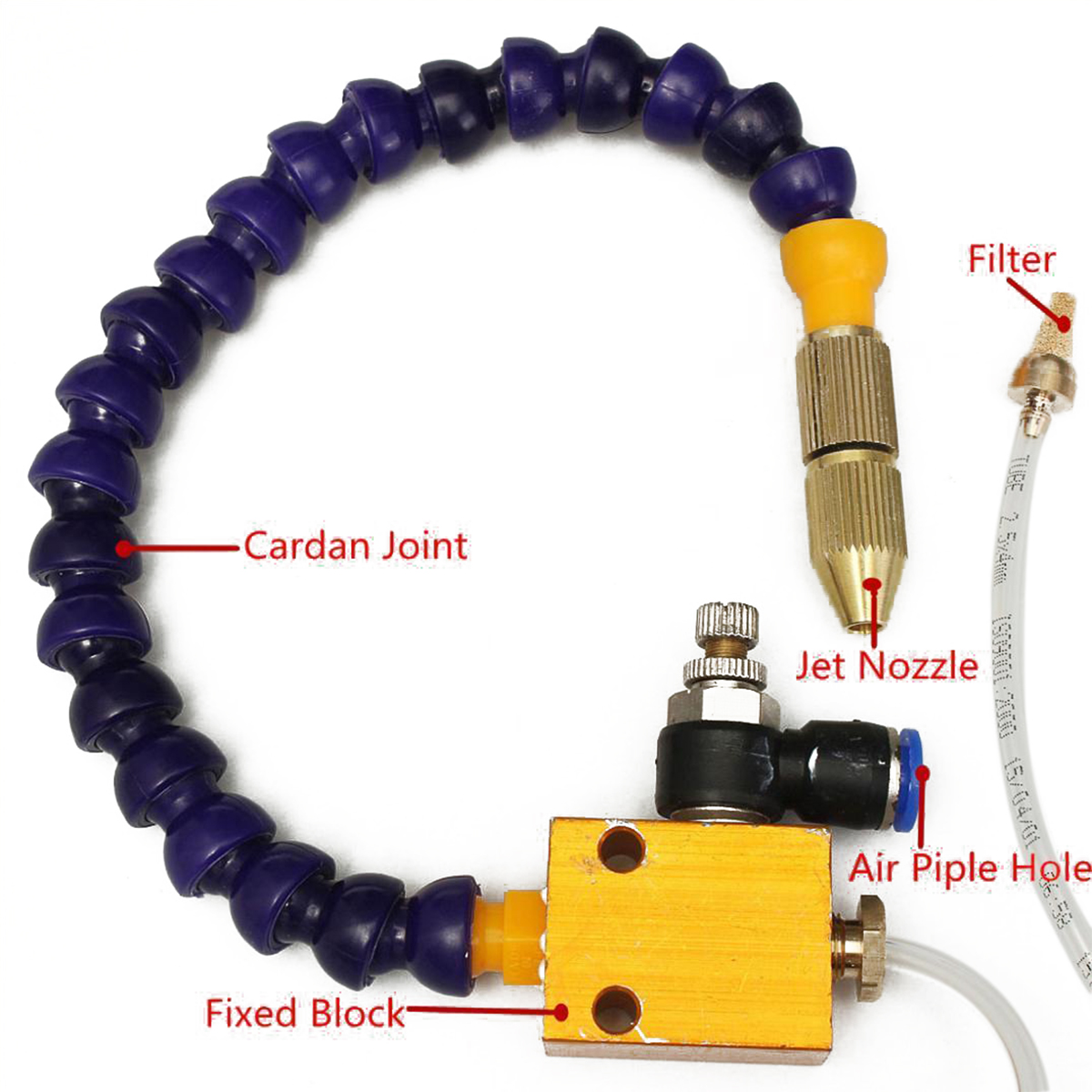 Multi-function Mist Coolant Lubrication Spray System Unit Air Hose Pipe for CNC Lathe Milling Machine Mayitr Coolant Misting new mist coolant lubrication spray system for 8mm air pipe cnc lathe milling drill