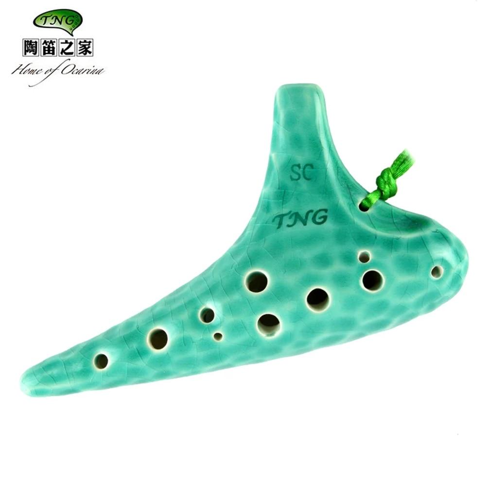 TNG Ocean Wave 12 Holes Professional Ocarina Key Of Alto C SG Quality Dolomite Ceramic Ocarina Professional Musical Instruments цена 2017