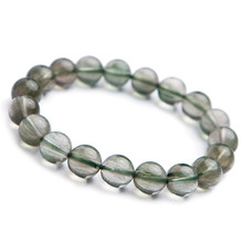 купить Genuine Green Natural Rutilated Quartz Bracelets For Women Crystal Stretch Rutilated Quartz Round Bead Bracelet по цене 5263.9 рублей