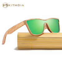 Kithdia Real Wooden Sunglasses Polarized With Bamboo Sunglasses Case and Support DropShipping / Provide Pictures #KD205