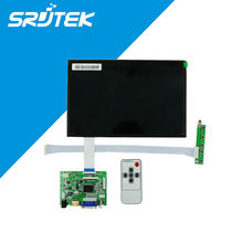 10.1 Inch 40pins 1280(RGB)*800 TFT EJ101IA-01G LCD Screen Display With Remote Driver Control Board 2AV HDMI VGA for Raspberry Pi
