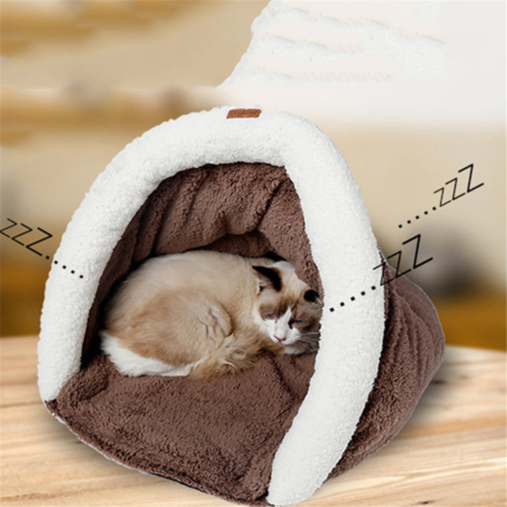 Pets Cats Nest Mat Box Pad Paw Print Cat Pads Puppy Kitty Dish Dinner Feeding Sleeping Bag Placemat Tray Tidy Easy Cleaning