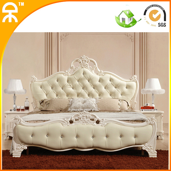 Free Shipping Hot Modern Bedroom Furniture Design S Leather Two Beds With Solid Wood Frame