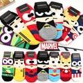 35-43 1 lote = 7 pairs MARVEL escindir hierro kid Ninja Batman Superman SpiderMan capitán américa Avengers alliance del tobillo de la historieta