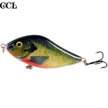 100 мм 45 г медленно тонущий Джеркбейт рыболовные приманки слайдер для плавания жесткая приманка для ловли щуки мускусной рыбы
