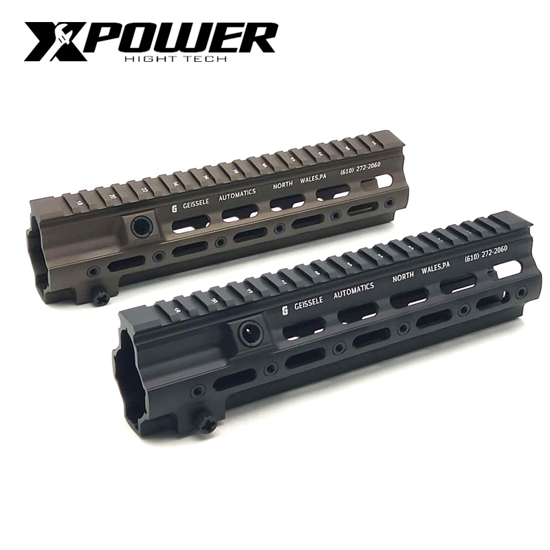 XPOWER GT Style 10'Rail System 416 M LOK MOD Lite Handguard For AR AEG Airsoft M4A1 Paintball CS Outdoor Sports Receiver Gearbox-in Paintball Accessories from Sports & Entertainment