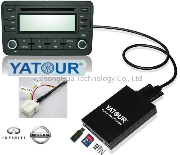 Yatour Digital Music Car Audio For Nissan CD Changer adapter Bluetooth USB SD AUX MP3 media player interface yatour digital music changer usb sd aux adapter yt m06 fits volvo s60 s40 car stereos mp3 interface emulator din connector