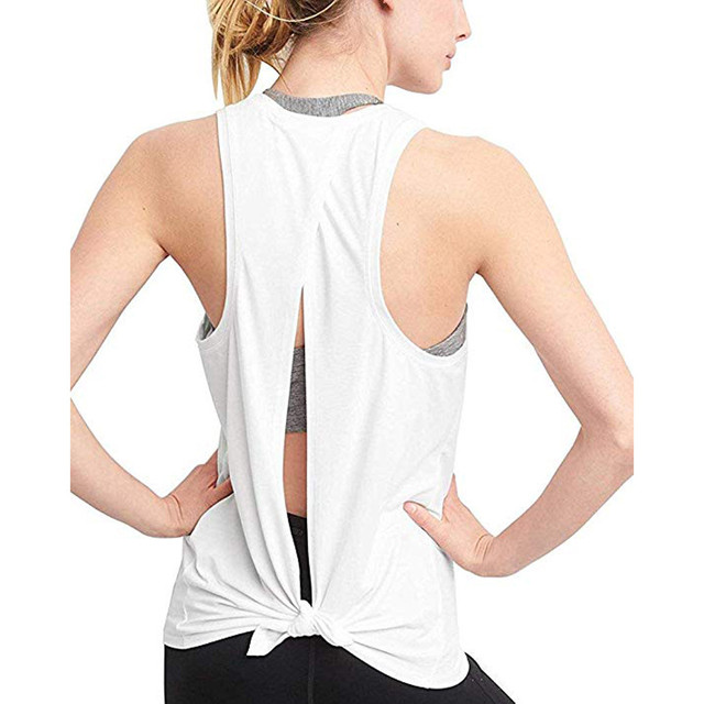 Sexy Open Back Yoga Tank Top