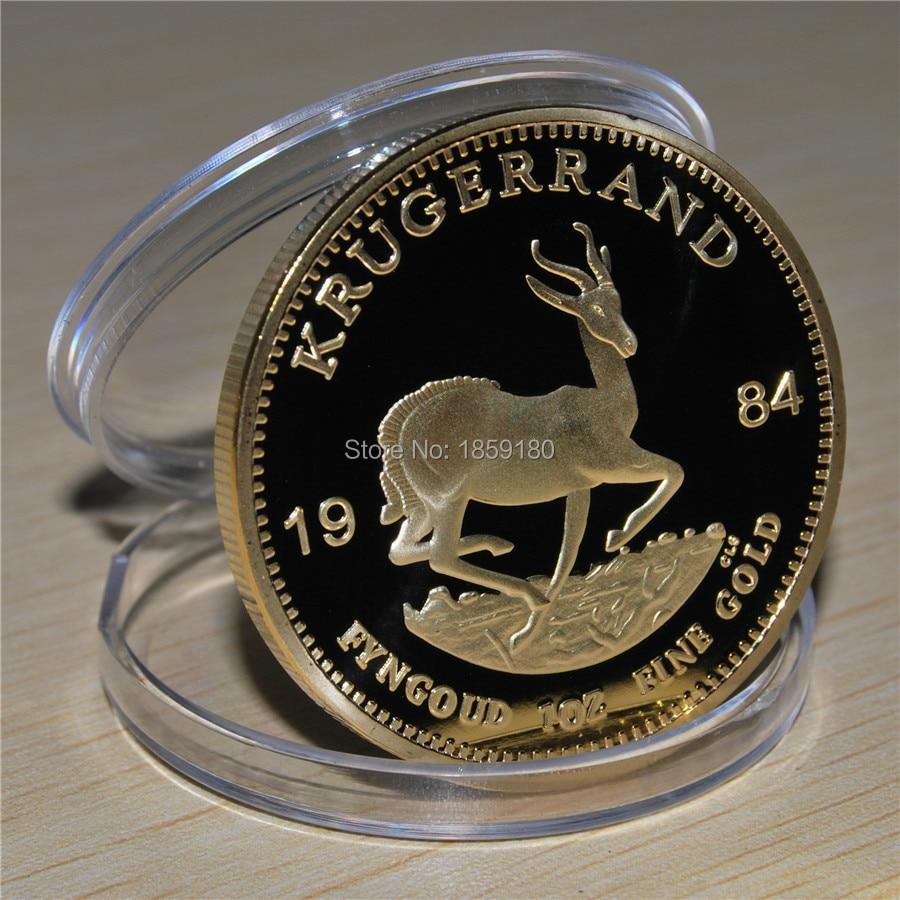 1 teile/los Freies verschiffen, 1984 Südafrikanischen Krügerrand bullion Gold 1 unze Münze-Große Sammlung-LL11