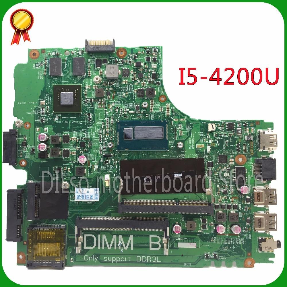 KEFU 12314-1 pro Dell 5437 DELL 3437 MB12314-1 PWB: VF0MH REV: A00 základní deska Dell 5437 základní deska s i5-4200u Test