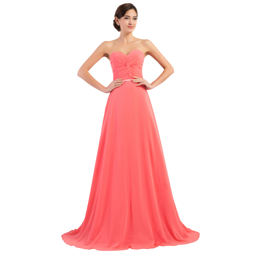 Hot sale sweetheart coral colored bridesmaid dresses long princess hot sale sweetheart coral colored bridesmaid dresses long princess wedding party dress plus size floor length chiffon gowns 6298 in bridesmaid dresses from ombrellifo Image collections