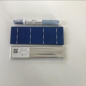 Image 2 - ALLMEJORES 40 pièces 156mm * 52mm cellule solaire polycristalline 1.4 w/pièces a grade pour bricolage 50W panneau solaire donner Tabbing wire Flux pen